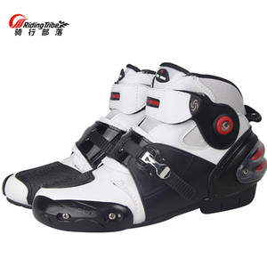 Riding Tribe Motorcycle Boots Chaussures moto vitesse Waterproof Hommes Motocross vélo botte haute Dirt Sport Bottes Touring Chaussures