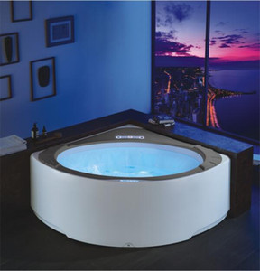 1550x1550 ملليمتر جدار cornor تصفح دوامة فقاعة شلال حوض الاكريليك التدليك المائي الشلال الملونة مصابيح الثلاثي حوض NS1102
