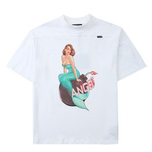20SS Hot Womens Stylist T Shirts Fashion Women Stylist Clothes Letter Printing Couple Short Sleeve Black and White Men Tees Size S-XXL#a013