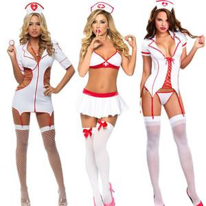 3 개 스타일 코스프레 간호사 섹스 란제리 여성 유니폼 유혹 에로틱 섹시 의상에게 포르노 역할 놀이 간호사 에로 속옷 새로운 T191223을 설정합니다