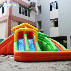 Multifuncional al aire libre inflable de diapositivas Water Slide Con piscina libre Soplador incluido