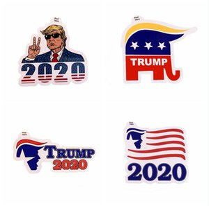 Donald Trump Funny Sticker Trump 2020 Adhesive Sticker Decoration Bumper Stickers Window Door Fridge Notebook Car Sticker LJJA4071