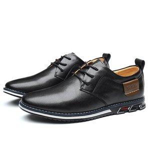 Design der neuen PU-Leder Loafers Männer Mokassin Fashion Sneakers Flache Causal Herren Schuhe Adult Male Schuhe Boots-Schuhe