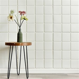 checkered pattern3d foam wall stickers soft bag waterproof anti-collision bed head wall sticke bedroom living wallpaper