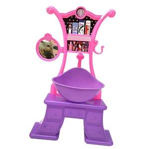 Simulation Jeux de rôles Jouets pour le bain Doll Bath Ensembles Fashion Baignoire Toilette Wash Sink Meubles Jouet enfants Toy Jeux de rôles