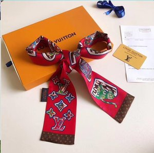 Fashion trend good quality sccarf lady small ribbon original single quality can decorate the bag hair scarf the best gift for women