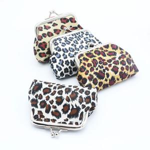 Mode toile léopard design Hasp porte-monnaie petit porte-monnaie Mini sac à main sac à monnaie beau changement de sac à main en gros cadeau promotionnel