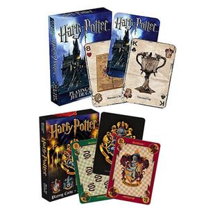 6 أنماط بوكر هاري بوتر هوجورتس قداس تأثير أوراق اللعب الفيلم بطاقات الإنجليزية لمجموعة هدية