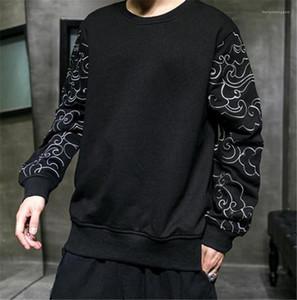Designer Hoodies Art und Weise lose Stickerei Hülsen Panelled Mens Designer Hoodies beiläufige Mens-Kleidung Chinese Artmens