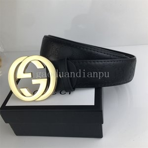 2020 Best-selling High Quality Leather Belt Men And Women Gold Buckle Silver Buckle Black Belts Free Delivery With box