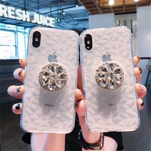 Luxury Diamond Soft Case for iPhone 7 8 6s Plus Bling Clear TPU Transparent Case Shockproof Cover For iPhone X XR XSMAX
