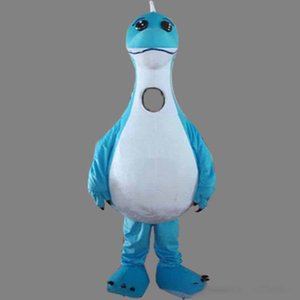 2019Discount factory sale Sky Blue Dinosaur Mascot Costume Fancy Birthday Party Dress Halloween Carnivals Costumes