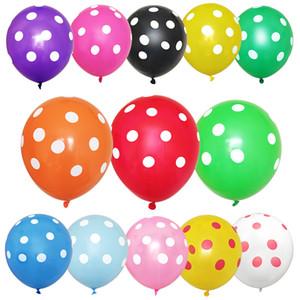 100pcs / lot bunte Tupfen-Ballone verdicken Latexballons aufblasbaren Kugeln Hochzeit Geburtstag Festival-Party-Ballon-Dekor DBC BH3119