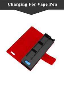 UOYO Зарядное Устройство Зарядка Чехол Коко Курение Power Bank ЖК 1200 мАч Кожаный Мешок Аккумулятор для Jul V3 Стручки Картридж DHL