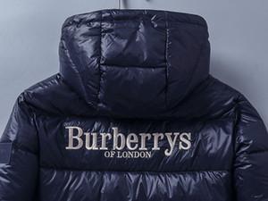 Tamaño para hombre 2020 diseñadores capa encapuchada del invierno del otoño abajo cubre rompevientos con capucha gruesa de lujo luminoso Outwear chaquetas de Asia Ropa de Hombre
