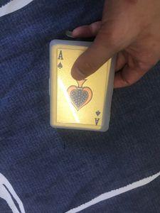 Jeux de personnalité de la mode Card Poker d'or givré à haute température laser embosser PET pendentif porte-clés Poker étanche