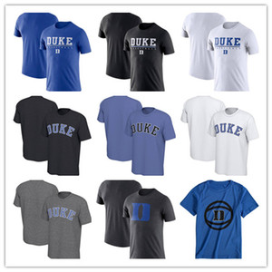 Benutzerdefinierte Duke Blue Devils Fashion Sommer Kurzarm T-Shirt Wordmark Basketball Praxis Leistung Rundhals T-Shirt