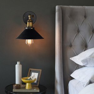 North European American retro industrial style personality creative wrought iron hotel corridor bedside project bedroom entrance wall lamp