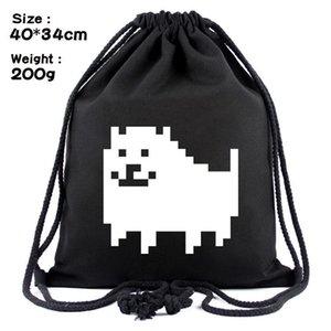 Undertale Pouch Skull Shopping Bags Dog Design 6 Fashion School LE386 Bag Backpacks Drawstring Sans Pocket Heart Canvas Upeag