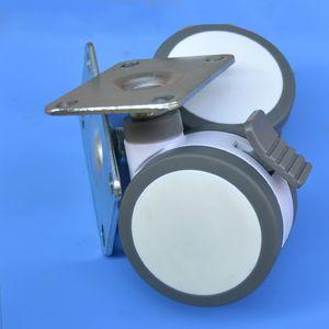 100 millimetri piatto mobili caster letto medica completa di plastica strumento universale sedia girevole caster ruota attrezzature mediche