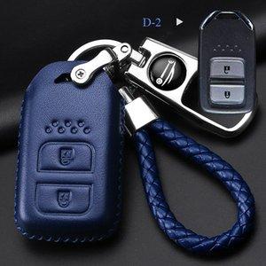 Funda protectora de llave para auto Honda VEZEL CRIDER AVANCIER Fit Civic City XRV CRV URV Accord Odyssey Llavero azul Car Key Case