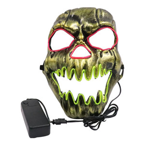 LED Skull Mask For Halloween Party Cosplay EDM shows, Masquerade, Bar, DJ, clubs, carnival and night events
