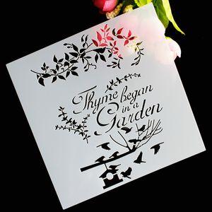DIY Craft Bird Vine Flower Layering Stencils For Walls Painting Album Decorative Embossing Paper Cards