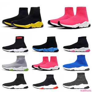 2020 Designer Shoes Speed Trainer platform Casual of triple Socks Red Blue White Flat Fashion Mens Womens Sports Sneakers Fashion Size 36-45
