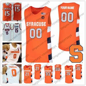 Personalizado Syracuse Orange 2020 Basketball Qualquer Nome Número Branca # 21 Marek Dolezaj 33 Kid Elias Hughes 35 amigos Boeheim Homens Juventude Jersey 4XL