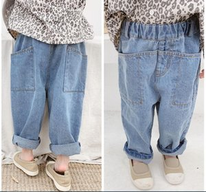 Spring and autumn children's wear in 2020 new children's jeans trousers for boys and girls Harlem pants