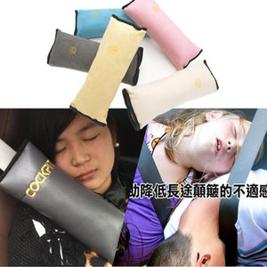 Bebê Crianças Car suave Encostos Cinto de segurança almofada do pescoço do cinto de segurança Correia Pillow Vehicle Harness Head Pad Capa