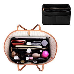 Sentía maquillaje de tela movible del organizador del bolso del recorrido del monedero del organizador interior bolsas de cosméticos portátil Fit Varios Brand Bags SH190918