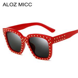 ALOZ MICC New Fashion Vintage Donna Rivetti Occhiali Da Sole 2019 Nuovo Progettista di Marca di Lusso Specchio Quadrato Occhiali Da Sole Sfumature UV400 A151