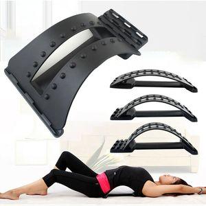 Back Massage remonta Apoio alívio da dor Maca cintura Fitness Equipment estiramento Spine Relax Companheiro Posture Corrector
