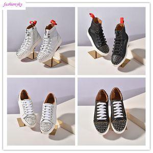 Последняя обувь NEW Дизайнерской Spike Носок Donna шипованные Шипы кроссовки Red Bottom Mens женщины Шипы Обучение обувь размер 35