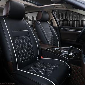 1 Pc Universal Car Front Seat Cover Transpirable PU Cojín de cuero Cojín Cojín Protección Auto Cubiertas para automóviles Protector