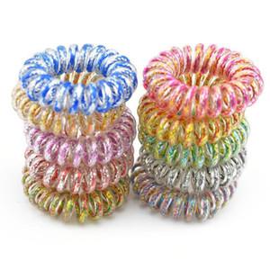 Accessori INS 3.5CM dei capelli Linea telefonica legare del cavo corda dei capelli dell'anello dei capelli per le ragazze fascia arcobaleno delle ragazze delle donne Hairbands