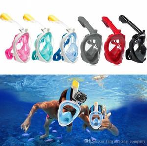 Masque facial plongée avec tuba anti-buée Masque sous-marine Plongée Masque chasse sous-marine enfants / adultes Lunettes de formation des lunettes de plongée EquMotorcycle