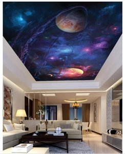 Personnalisé Grand 3d plafond photo papier peint Ciel univers alien espace salon chambre plafond zénith décoration murale papier peint pour murs 3d