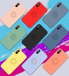 Boa Qualidade Phone Case para IPhone XR MAX 6 7 8plus clássico Voltar Telefone tampa do silicone com anel de dedo Buckle