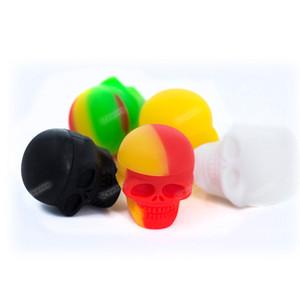 3ML-Schädel-Design Mini-Silikongläser-Non-Stick-Silikonbehälter für Wachs-Slick-Öl-Speicher-Verdampfer-Silikongläser DAB-Großhandelspreis!