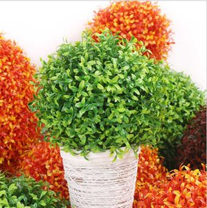 محاكاة العشب الكرة الأوكالبتوس الفول السوداني سترو الكرة الديكور المنزلي مول مصنع البلاستيك شنقا سترو