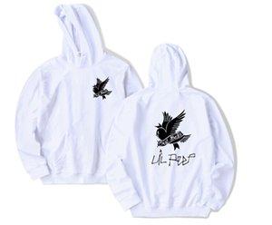 Weeping Swallow Bird Pattern Lil Peep Print Hooded Sweatshirt Men Women Hip Hop Pullover Hoodies High Street Loose Tops Sweater
