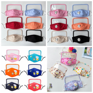 face mask with transparent eye shield muti color reusable cloth mouth mask Kids unisex washable face masks YYA111