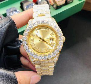 5 Color de la mejor calidad perpetuo 43mm Day-Date bisel de diamantes pulsera completa romana Dial Relojes Reloj ETA 2813 Movimiento automático para hombre de los hombres de