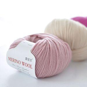 50g / bola 100% fios de lã Merino outono / inverno macio fios de lã Medium-itinerante DIY mão de malha Crochet lenço roupas Yarn
