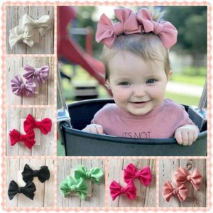 2020 Baby Girl Bowknot Barrettes Infant Kid Baby Accessories Hair Bow Clips Headwear Ribbon Headband Hair Accessories Hair Accessories KuZx#