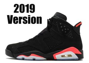 2019 Sürüm Üst Fabrika 6 Siyah Kızılötesi 6 s 3 M yansıma süet erkek kadın yüksek kaliteli basketbol ayakkabı sneakers Kutusu ile