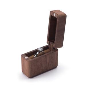 Ahşap Yüzük Taşıyıcı Kutu Düğün Nişan yüzüğü Tutucu Kutusu Takı Favor Hediye F3MD