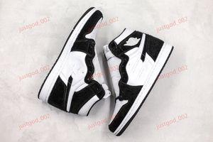 Air Jordan 1 Retro High Panda xshfbcl 2019 Новые ретро High Panda 1 Баскетбол обувь Black Metallic Gold White Мужчины Женщины 1S Спорт Кроссовки CD0461-007 36-45